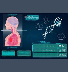 head up display hud ui for medical app vector image