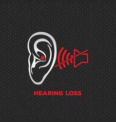 hearing loss logo icon design vector image