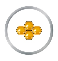 Honeycombs icon in cartoon style isolated on white vector