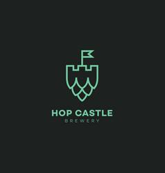 Hop castle logo vector