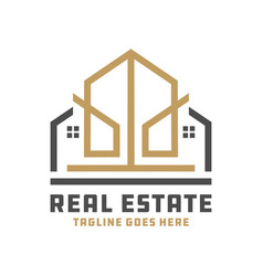house building outline logo vector image