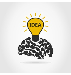 Idea of a brain vector image