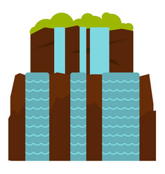 iguassu falls icon isolated vector image