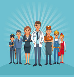 Jobs and professions vector