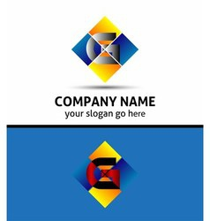 Letter G Company logo icon template set vector image