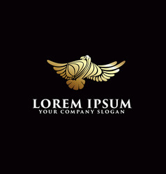 luxury bird logo design concept template vector image
