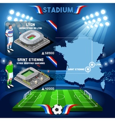 Lyon St Etienne Soccer Stadium vector image