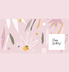 modern abstracts background with floral vector image