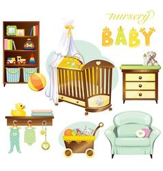 Nursery baby vector