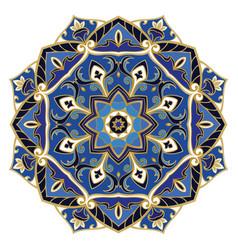 ornate blue mandala vector image