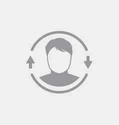personal user data update vector image