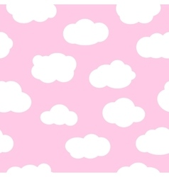 Pink sky with clouds seamless pattern vector image vector image