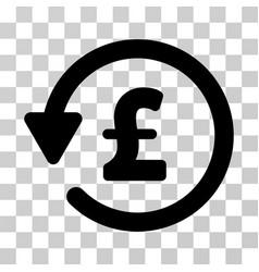 Pound rebate icon vector