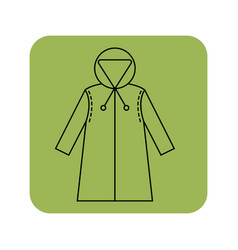 rain cover raincoat flat icon object of clothes vector image