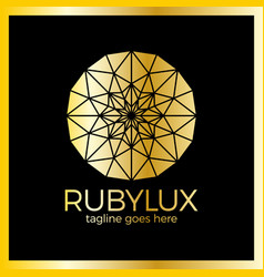 ruluxury logo - jewelry shop vector image