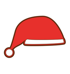 santa claus hat isolated icon vector image vector image