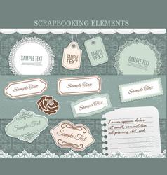scrapbooking elements paper stickers set vector image