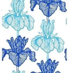 seamless iris background vector image