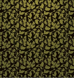 Seamless pattern green vector image