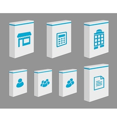 Set of product boxes vector