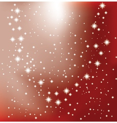 Shining star on a red background vector