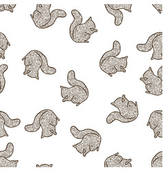 squirrel tangle vector image