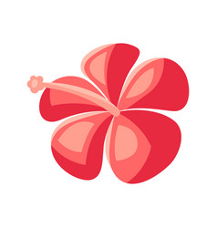 Stylized hibiscus flower vector