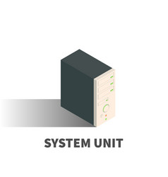 system unit icon symbol vector image