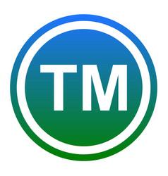 Trade mark sign white icon in bluish vector