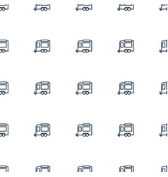 trailer icon pattern seamless white background vector image