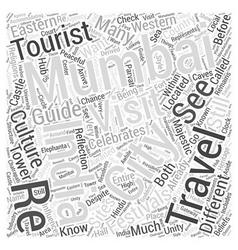 Travel india mumbai Word Cloud Concept vector