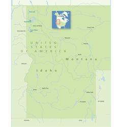 USA Idaho Montana Smal vector