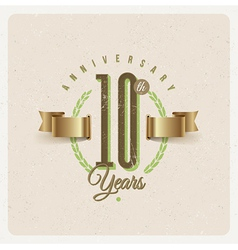 Vintage Anniversary type emblem vector image