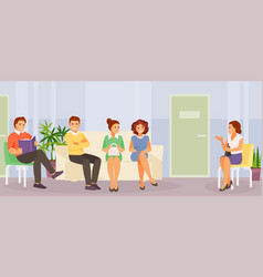 waiting people vector image