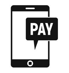 Web payment icon simple style vector