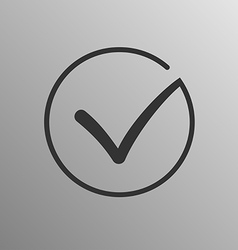 Different grey flat check mark vector image