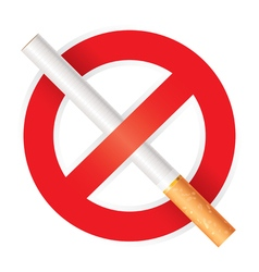 No smoking Isolated on white background vector image vector image