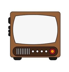 retro tv icon vector image