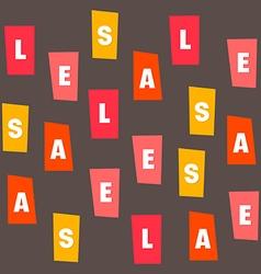 Sales letter vector