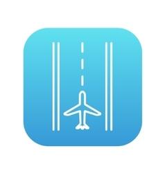 Airport runway line icon vector image