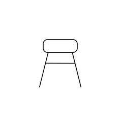 chair icon stool line icon vector image