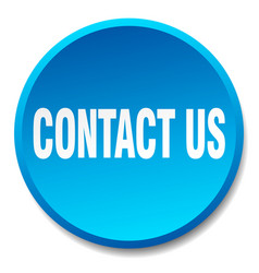 Contact us blue round flat isolated push button vector