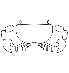 crab the black color icon vector image vector image