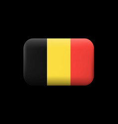 flag of belgium matted icon and button vector image