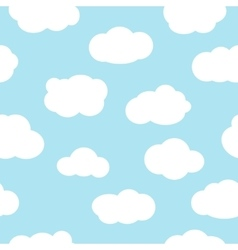 Blue sky with clouds seamless pattern vector image