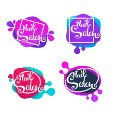 logo template for your nail studio and manicure vector image vector image