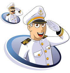 Marine Captain vector image vector image