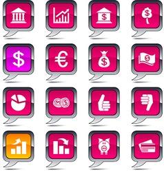 Money balloon icons vector image vector image