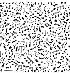 Music background with notes seamless pattern vector image vector image