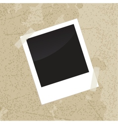 Photo frame on old vintage grungy background vector image